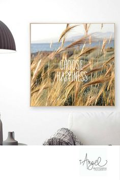 Choose happiness quote Wall Art Summer poster Digital