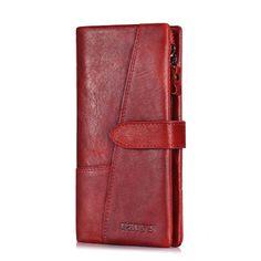 Кавис Пояса из натуральной кожи Для женщин кошелек женский длинный клатч леди walet portomonee RFID Элитный бренд мешок денег Magic молнии портмоне