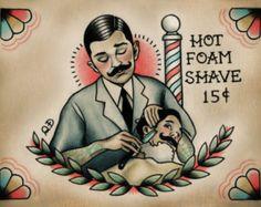 Peluquería para la impresión del arte de la vida del tatuaje
