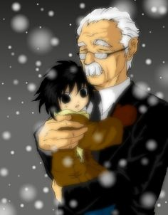 """Awww. This really makes me sad. I recently read 'L: Change the World"""" and loved how they went deeper into Watari and Ryuzaki's relationship. Now I shall cry"""