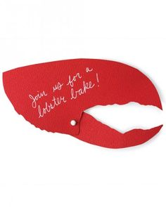 These clever pincers are perfect for a lobster bake, and they're a snap to make.Trace templates onto cardstock, cut out, and write party details on the back with a gel-ink pen. Punch 1/8-inch holes, as indicated, in the large and small halves with a screw punch or microhole punch. Attach halves with mini paper fasteners.Print the Lobster Claw Invitation Templates