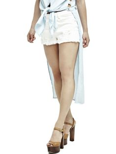 EUR89.90$  Watch now - http://vilre.justgood.pw/vig/item.php?t=zowr7f244616 - SHORTS WITH FRINGED HEM