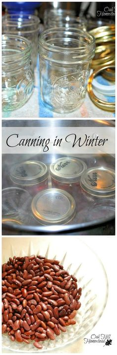 You don't have to stop canning when gardening season is over; there is still plenty of food to can! From OakHillHomestead.com