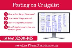 Posting on Craigslist can Make Good Money for your Business:- Posting on Craigslist is a sure shot and exceptional way to jot down traffic at your site. If you are a Virtual Assistant or SEO Specialist then you might know about Craigslist. #craigslistpostingservice