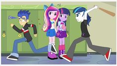 Some odd reason my will be boyfriend is twilight and my buff is cadence and I am shining armor and flash is my bff`s boyfriend