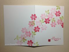 Stamp With Cynthia: Fast & Fabulous Primrose Blooms
