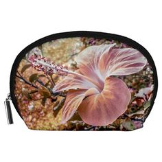 Fantasy+Colors+Hibiscus+Flower+Digital+Photography+Accessory+Pouch+(Large)