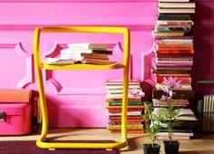 Charming Warm Pink Living Room Decoration