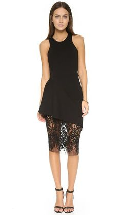 Mason by Michelle Mason Платье с кружевной юбкой и спиной-борцовкой