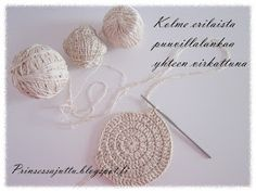 Prinsessajuttu: Kattausliinat (ohje) Crochet Fashion, Crochet Earrings, Place Cards, Place Card Holders, Rugs, Style, Farmhouse Rugs, Swag, Rug