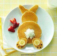 Desayuno creativo con pancakes !