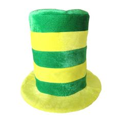 Yellow & Green Striped St. Patrick's Day Top Hat ~ Irish Holiday Top Hat « Impulse Clothes