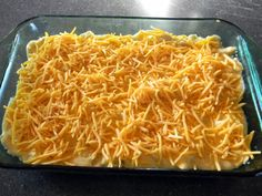 Easy Chicken Taco Casserole with tortilla crust!