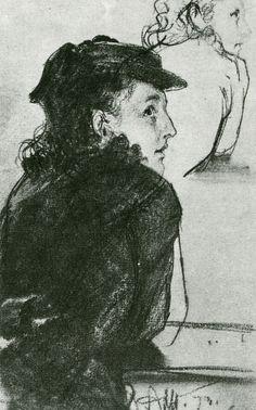 Adolf Menzel Skizze