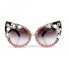 Luxury Floral Vintage Cat Eyes Sunglasses - The Effective Pictures We Offer You About diy furniture A quality picture can tell you many things - Cute Sunglasses, Luxury Sunglasses, Oversized Sunglasses, Cat Eye Sunglasses, Sunglasses Women, Sunnies, Vintage Cat, Retro Vintage, Cat Eye Colors