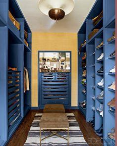 open shelving.  Nate Berkus' chicago apartment closet.