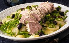 PORK-TENDERLOIN-IN-YOGURT-MARINADE-WITH-BEAN-AND-LEMON-SALAD