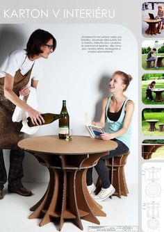 cardboard table and chair