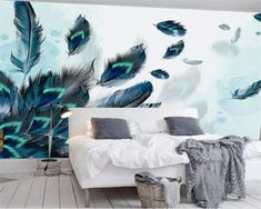 Modern Home Decor Living Room Living Room Paint, Living Room Bedroom, Bedroom Wall, Living Room Decor, Paper Wallpaper, Custom Wallpaper, Wall Wallpaper, Study Bed, Photo Mural