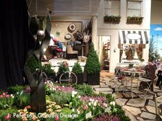 Storefront vignette - Parisian setting created by Wight's Home & Garden.