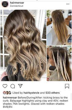 Bronde Balayage, Hair Color Balayage, Hair Highlights, Haircolor, Blonde Hair Shades, Hair Color Shades, Cool Hair Color, Redken Hair Color, Balayage Hair Tutorial