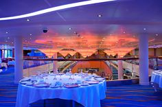 The Sapphire Dining Room on Carnival Breeze: What your under-the-sea themed prom wanted to be.