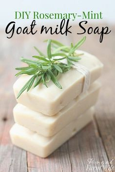 This rosemary-mint goat milk soap is so creamy, and makes your skin so soft!