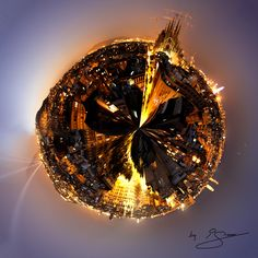 """""""The World of Barcelona"""" by Ignasi Rodriguez. An Stereographic photography based on a panoramic view #barcelona #world #myworld #city #dslr #canon #digitalart #art #stereographic"""