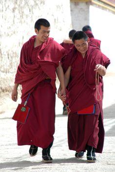 Tibetan monks, Tongren, Tibet - photo stacijguthrie