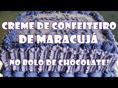 CREME DE CONFEITEIRO DE MARACUJÁ NO BOLO DE CHOCOLATE - YouTube