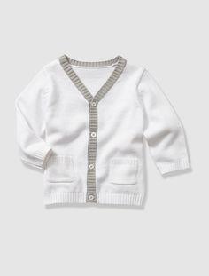 Cardigan met V-hals in tricot voor baby jongetjes BLAUW MIDDEN UNI - vertbaudet enfant ------ 15.95€