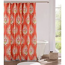 image of Kalani 72-Inch x 72-Inch Fabric Shower Curtain