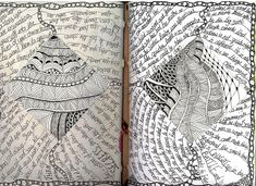 Altered Books , Art Journal , Doodle , Zentangle