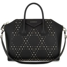 Givenchy Antigona medium leather tote (£1,835) ❤ liked on Polyvore featuring bags, handbags, tote bags, genuine leather tote, leather zipper tote, leather zip tote, leather purses and oversized tote bags