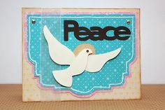 Peace Card made with the #Cricut