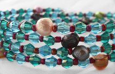 Beachy Jewels Wrap Bracelet  Sky Blue and by HalesBeeHandmade, $10.00