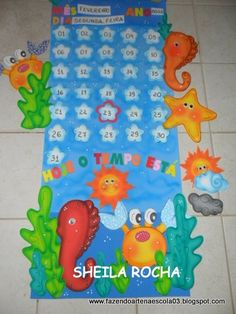 calendáriotablero asistencia y tiempo Letter E Craft, Class Decoration, Ocean Themes, Under The Sea, Classroom Decor, Sunday School, Preschool, Nursery, Kids Rugs