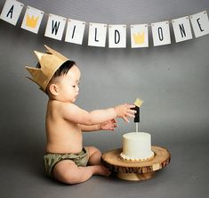 **** Thank you to lovelybabyphotography for the great photo****  A WILD ONE  Perfect for a birthday with the Where the Wild Things Are theme!