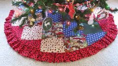 Dog Lovers Printed Christmas Tree Skirt. $125.00, via Etsy.