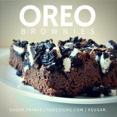 Rich, fudgey brownies + chopped Oreo cookies = heavenly delight! #sugar. Vanilla Cookies, Oreo Cookies, Oreo Brownies, Latest Recipe, Vegetarian Chocolate, Baking Tips, Heavenly, Brown Sugar, Dishes