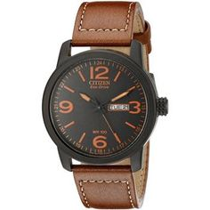 Citizen Men s BM8475-26E Leather Men 3e9b4cb83e