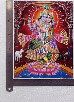 RADHA KRISHNA DANCE Together, Om Aum - POSTER (Big Size: 20 x 29 inches) - $6.97 | PicClick Shree Krishna, Radhe Krishna, Lord Krishna, Lakshmi Images, Foil Paper, Metallic Paper, Hinduism, Om, Dance