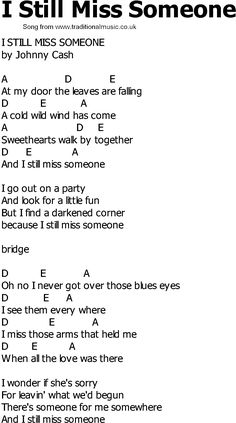 country lyrics with chords | Old Country song lyrics with chords - I Still Miss Someone