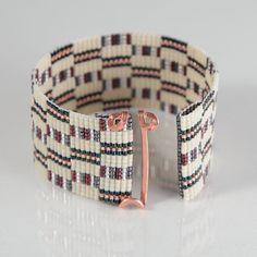 Saganaw Bead Loom Bracelet Artisanal Jewelry by PuebloAndCo