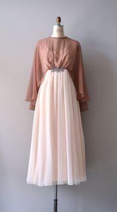 vintage 1960s Neapolitan chiffon dress    #vintagedress #1960s