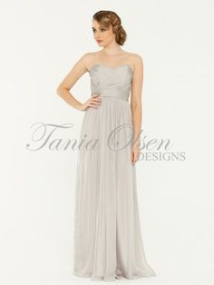 Amelia Grey Bridesmaid Dress by Tania Olsen designs. #bridesmaid Buy at Sentani.com.au