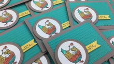 Stampin' Up! Hey, Chick Sale-abration Watercolor Card