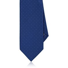 Brioni Men's Dotted Silk-Cotton Twill Necktie (760 BRL) ❤ liked on Polyvore featuring men's fashion, men's accessories, men's neckwear, ties, mens silk ties, mens neck ties, mens neckties, mens silk neckties and mens ties
