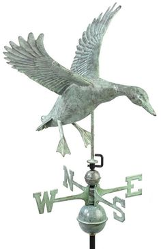 """for the top of the house, as a 'landmark' to direct people, as in, """"...when you get to the house with the duck weathervane"""""""