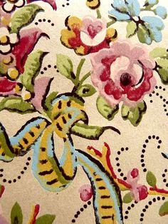 1920s Wallpaper Vintage French  Pochoir Guashe by LemonWoods, $9.99